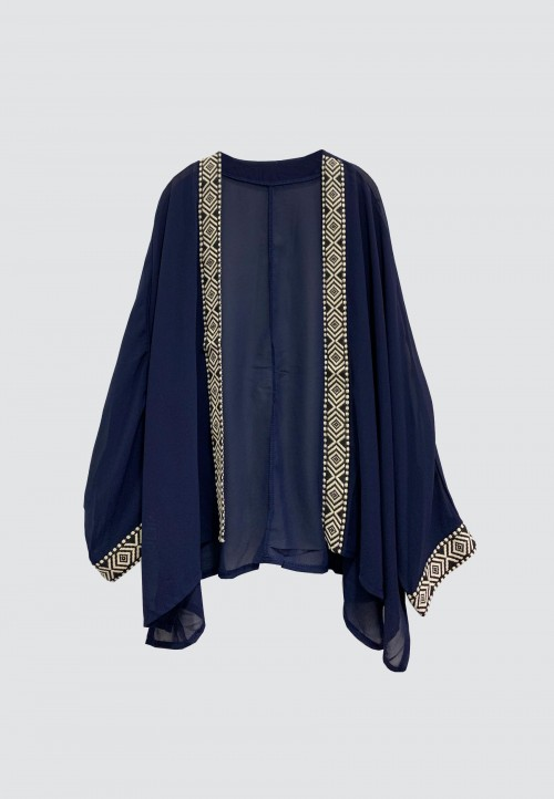 BOHO OUTERWEAR IN NAVY BLUE