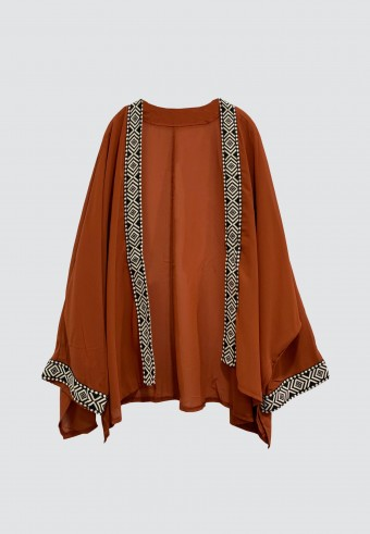 BOHO OUTERWEAR IN BROWN