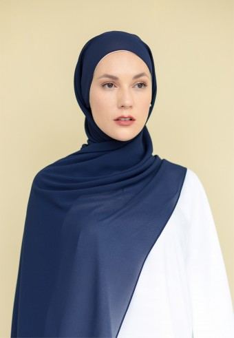 Inaya shawl in midnight blue
