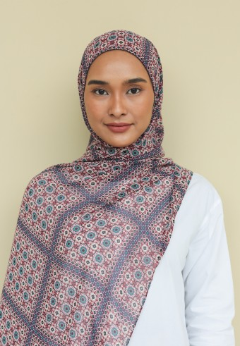 Omaira shawl in turkish blue