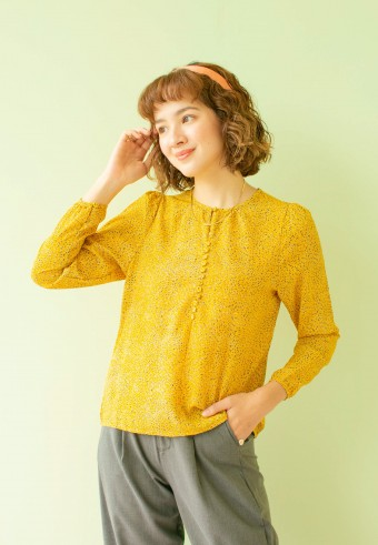 nena blouse in yellow