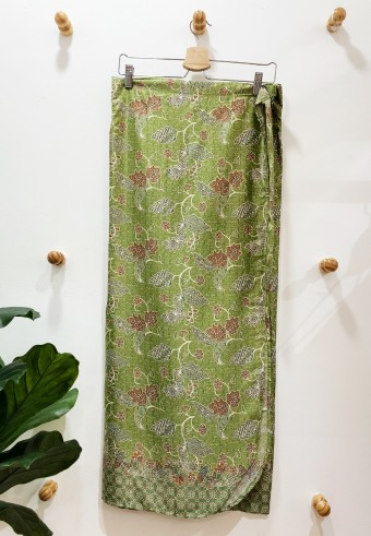 PARIO IKAT WITH FREE BUCKLE IN BATIK GREEN