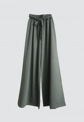ROPE PALAZZO PANT IN ARMY GREEN