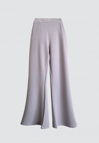 STRAIGHT CUT PANTS IN GREY