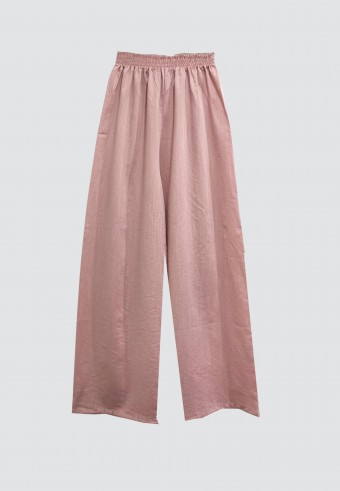 RELAX PALLAZO PANTS IN DUSTY PINK