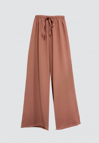 SILK ROPE PANT IN DUSTY PINK