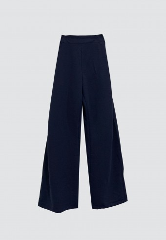 STRAIGHT CUT PANTS IN NAVY BLUE