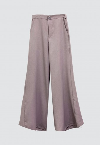 BOOTCUT COTTON PANT IN DUSTY PURPLE