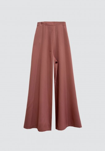 SILK PALAZZO PANT IN DUSTY PINK