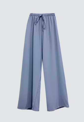 SILK ROPE PANT IN DUSTY BLUE