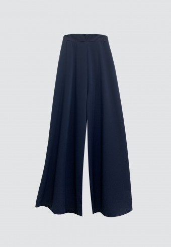SILK PALAZZO PANT IN NAVY BLUE