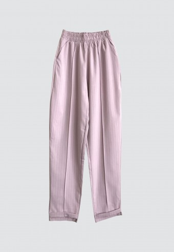 STRIPE TAPPERED PANT IN PINK