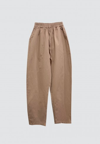 COTTON TAPERED PANTS WITH POCKET IN NUDE