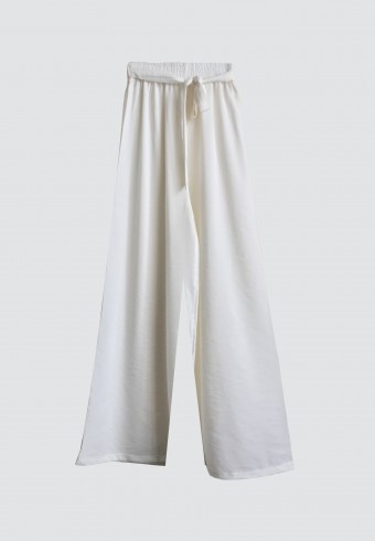 ROPE PALAZZO PANT IN WHITE
