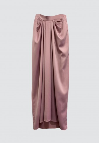 ALADDIN SATIN SKIRT IN PINK