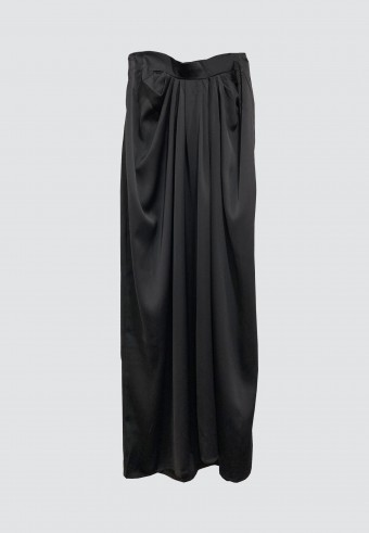 ALADDIN SATIN SKIRT IN BLACK