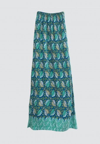 STRETCHABLE PRINTED SKIRT IN BLUE