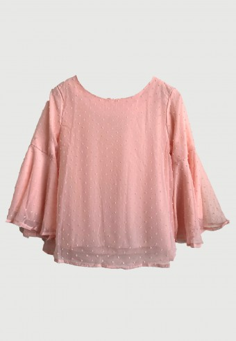 BELL SLEEVE TOP IN LIGHT PEACH 71