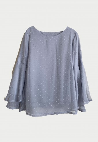 BELL SLEEVE TOP IN GREY 3