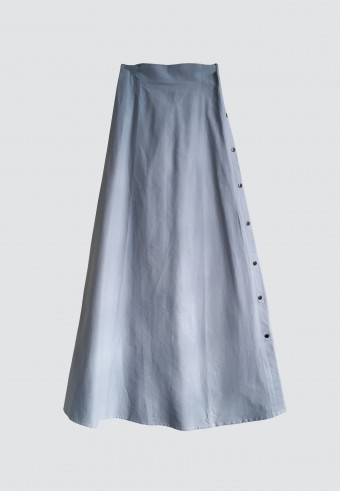 SIDE BUTTON SKIRT IN BLUE