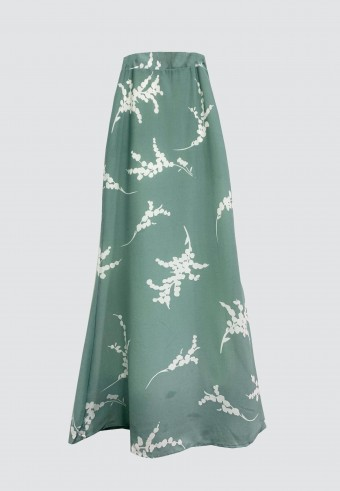 A-CUT SKIRT IN MINT GREEN