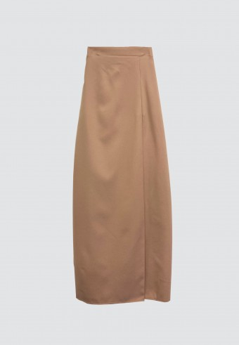PLAIN LIPAT BATIK SKIRT IN BROWN