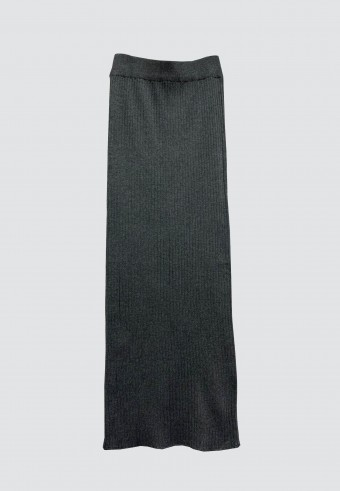 STRETCHABLE SLIM FIT SKIRT IN GREY
