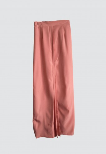 FRONT PLEATED SKIRT IN PEACH 7