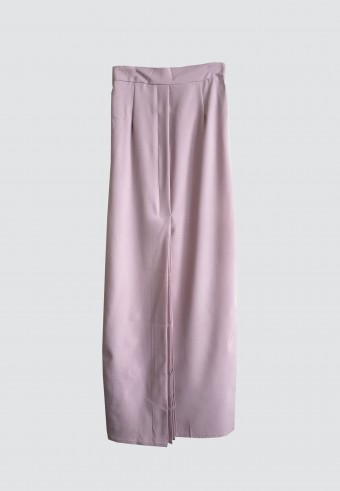 FRONT PLEATED SKIRT IN LIGHT PINK 51