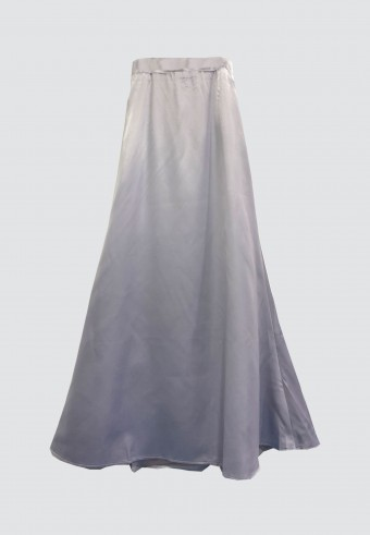 SATIN MERMAID SKIRT IN GREY