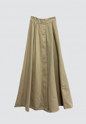 COTTON DOLLY SKIRT IN LIGHT BROWN