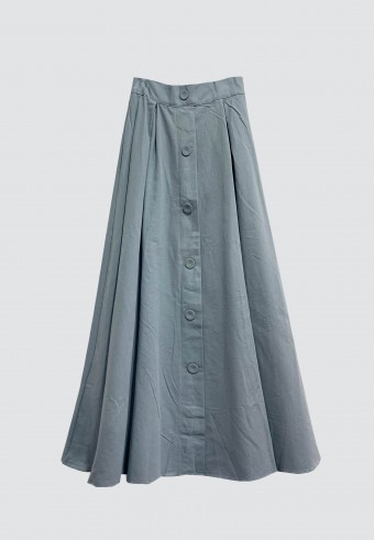 COTTON DOLLY SKIRT IN POWDER BLUE