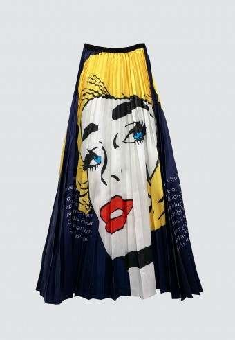 ADOBE MARILYN MONROE PLEATED SKIRT IN YELLOW