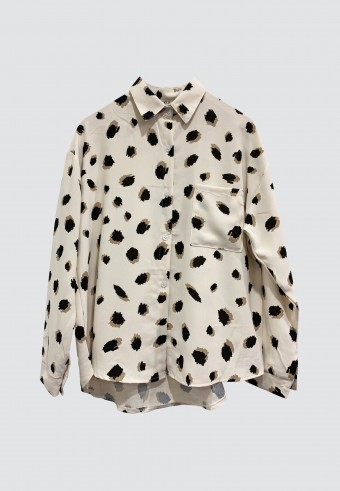 LEOPARD PRINTED TOP IN CREAM
