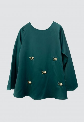 LOOSE BEADS TOP IN GREEN