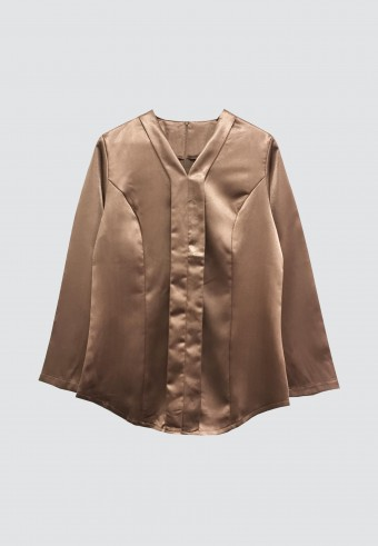 PLAIN KEBAYA TOPS IN BROWN