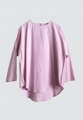 FLOWY COTTON TOP IN DUSTY PINK