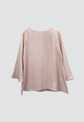 PLAIN SHIMMERY TOP IN SOFT PINK