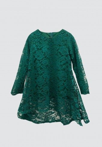 FISHTAIL LACE TOP IN EMERALD GREEN