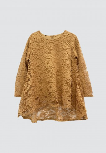FISHTAIL LACE TOP IN GOLD