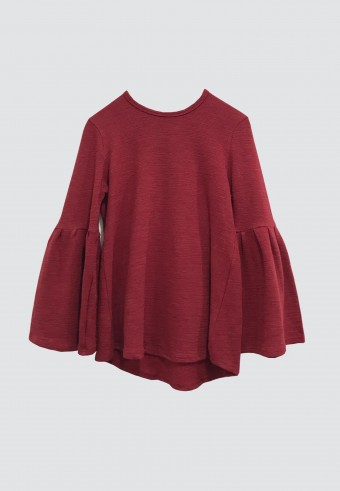 PUFF TOP IN RED