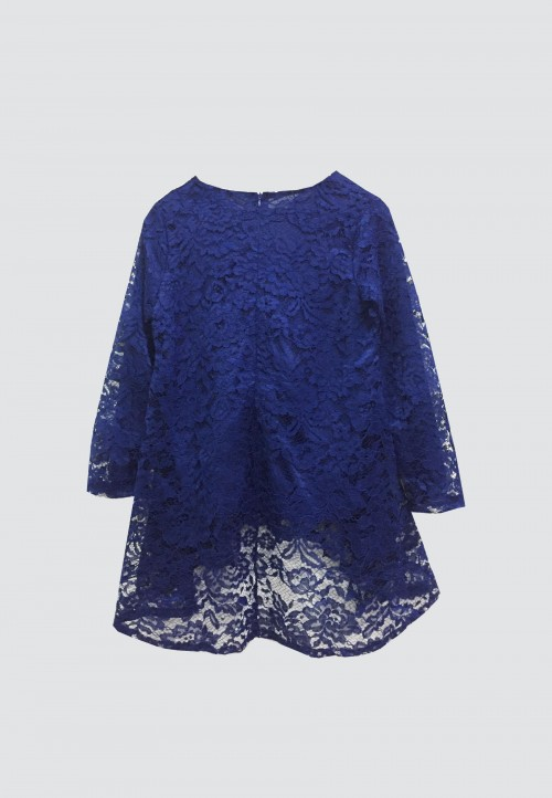 FISHTAIL LACE TOP IN ROYAL BLUE
