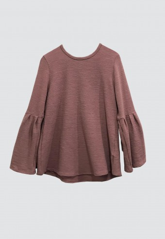 PUFF TOP IN DUSTY PINK