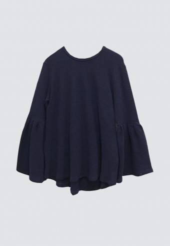 PUFF TOP IN NAVY BLUE