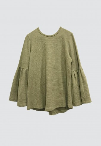 PUFF TOP IN ARMY GREEN