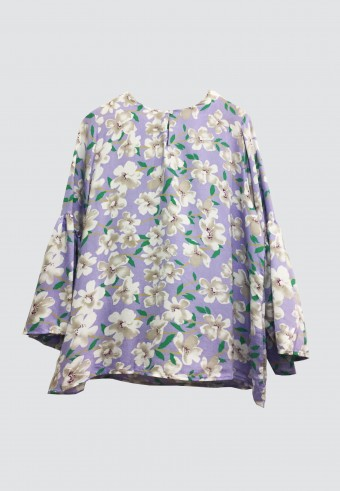 FLOWER COTTON TOP IN PURPLE