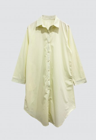 COTTON LONG TOP IN SOFT YELOW