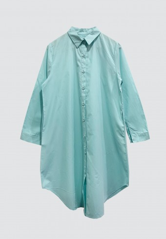 COTTON LONG TOP IN MINT GREEN