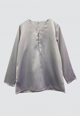 FRONT BUTTON TOP IN GREY