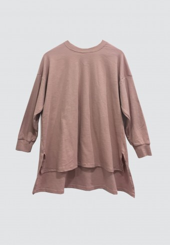 SOFT LINE LOOSE TOP IN DUSTY PINK